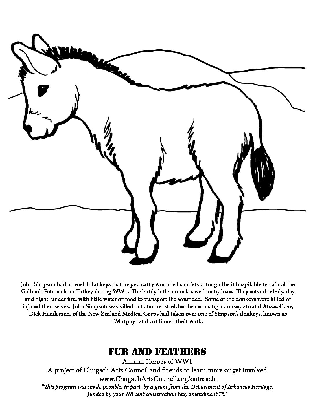 Coloring Pages, Fur and Feathers – Chugach Arts Council