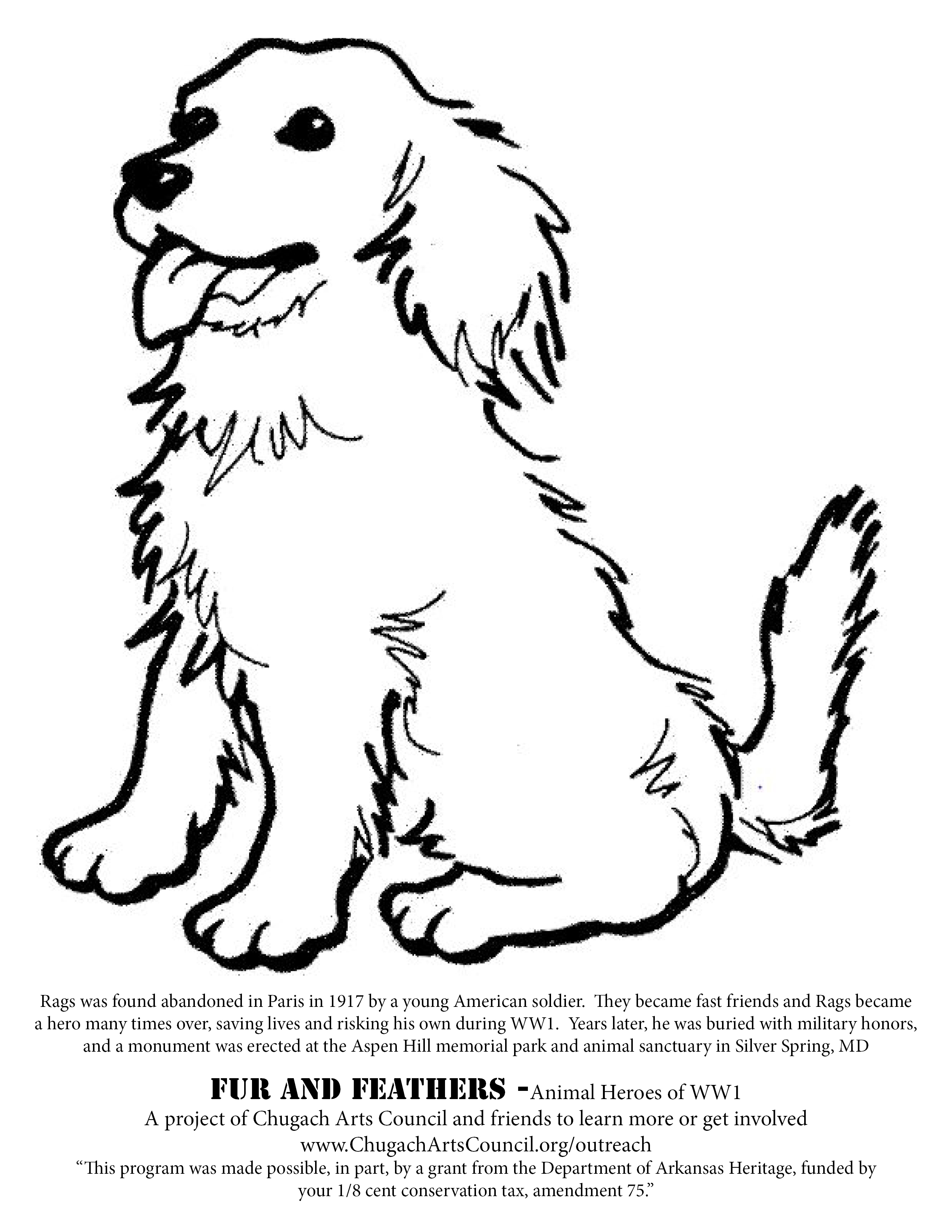Rags Coloring Page FnF And The Story